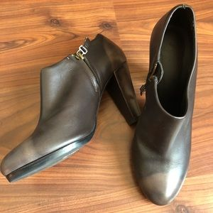 N.D.C. made by hand brown heel ankle booties